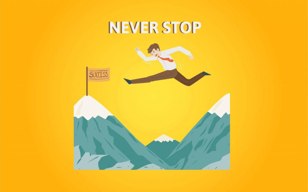 """NEVER STOP""- Motivational Quotes for Entrepreneurs (1)"